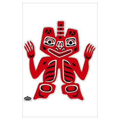 Native American totem Poster