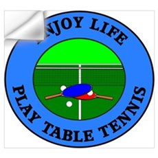Enjoy Life Play Table Tennis Wall Decal