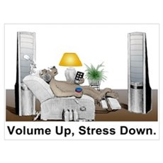 Volume Up, Stress Down Framed Print