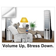Volume Up, Stress Down Wall Decal
