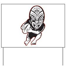 Maori Rugby player Yard Sign
