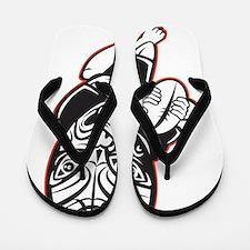 Maori Rugby player Flip Flops