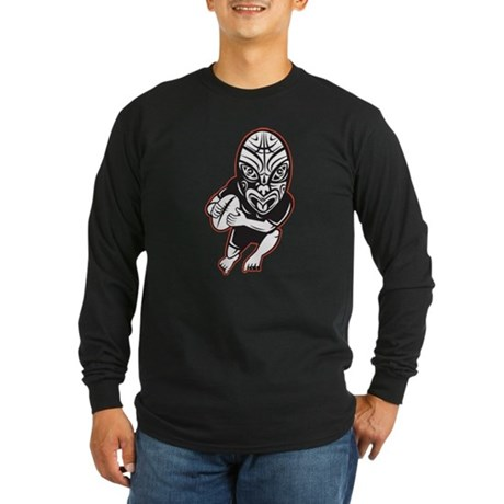 Maori Rugby player Long Sleeve Dark T-Shirt