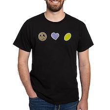 I Love Rugby Tshirt Black T-Shirt