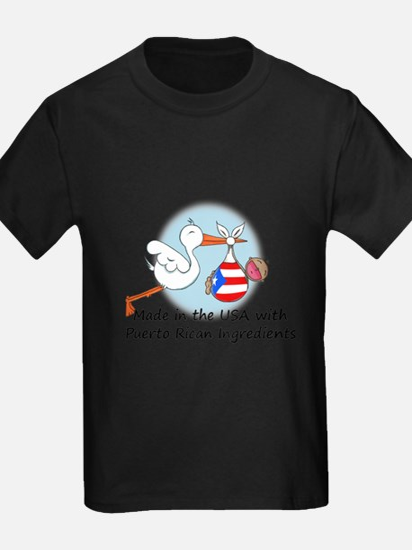 Stork Baby Puerto Rico USA T-Shirt