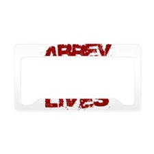 Abbey Lives! License Plate Holder