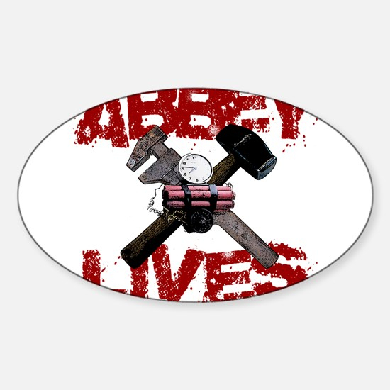Abbey Lives! Sticker (Oval)
