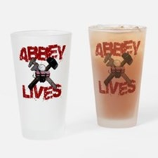 Abbey Lives! Drinking Glass