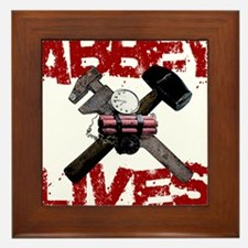 Abbey Lives! Framed Tile