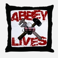 Abbey Lives! Throw Pillow