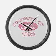Property of Tori Large Wall Clock