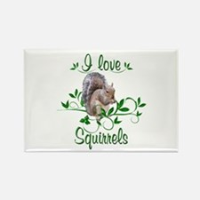 I Love Squirrels Rectangle Magnet