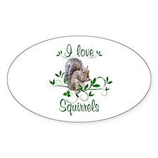 I Love Squirrels Decal