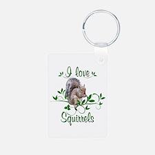 I Love Squirrels Keychains