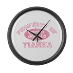 Property of Tianna Large Wall Clock