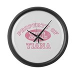 Property of Tiana Large Wall Clock