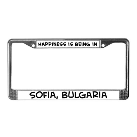 Happiness is Sofia License Plate Frame