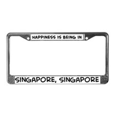 Happiness is Singapore License Plate Frame
