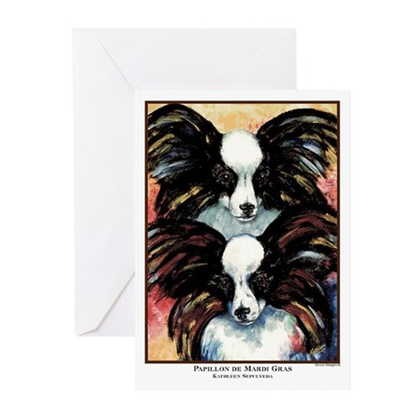 Papillon de Mardi Gras Greeting Cards (Package of