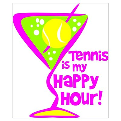 Tennis Happy Hour Poster
