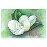 Magnolias Wrapped Canvas Art
