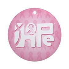 Think Hope (White/Pink) Ornament (Round)