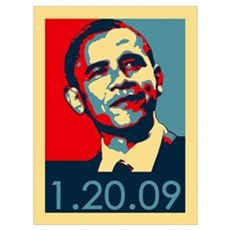 Obama Inauguration Date 1-20-09 Canvas Art
