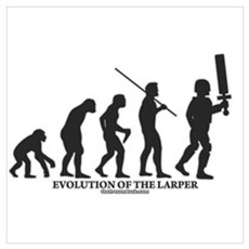 Evolution of the LARPer Framed Print