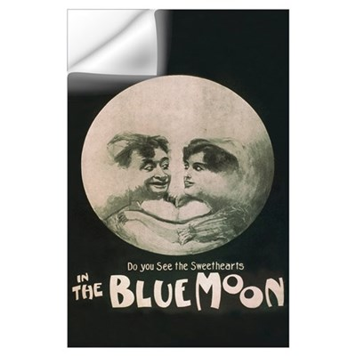 "In the Blue Moon 23 x 35"" Wall Decal"