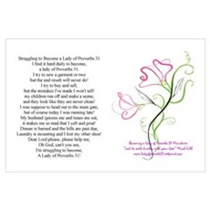 lady of Proverbs 31 Poster