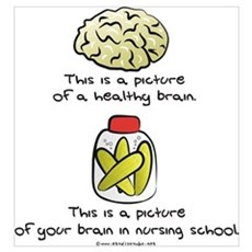 Nursing School Brain Poster