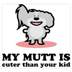Cuter Than Your Kid Canvas Art