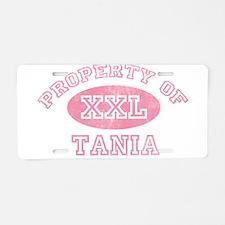 Property of Tania Aluminum License Plate