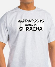 Happiness is Si Racha Ash Grey T-Shirt