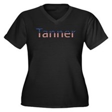 Tanner Stars and Stripes Women's Plus Size V-Neck