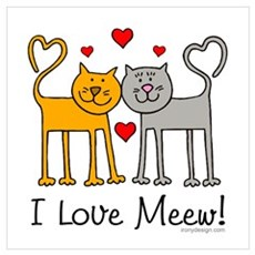 I Love Meew! Canvas Art