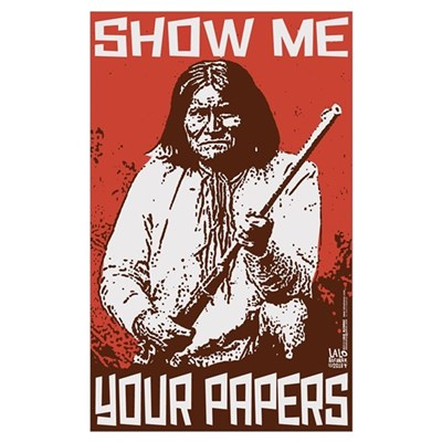 SHOW ME YOUR PAPERS! Poster
