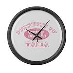 Property of Talia Large Wall Clock