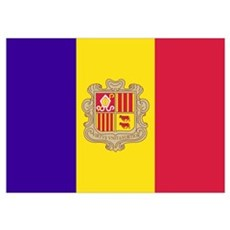 Flag of Andorra Poster