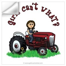 Light Red Farmer Wall Decal