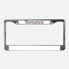 Terrance Stars and Stripes License Plate Frame