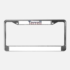 Terrell Stars and Stripes License Plate Frame