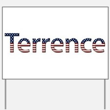 Terrence Stars and Stripes Yard Sign