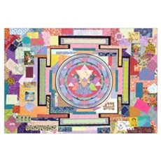 Sri Yantra Collage Poster