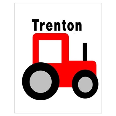 Trenton - Red Tractor Poster