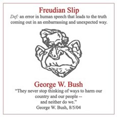 Bush's Freudian Slip Canvas Art