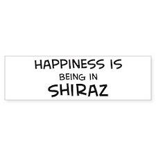 Happiness is Shiraz Bumper Bumper Sticker