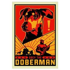 Obey the Doberman! Canvas Art