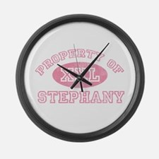Property of Stephany Large Wall Clock