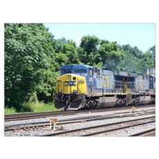 CSX Q190 Doublestack Train Framed Print